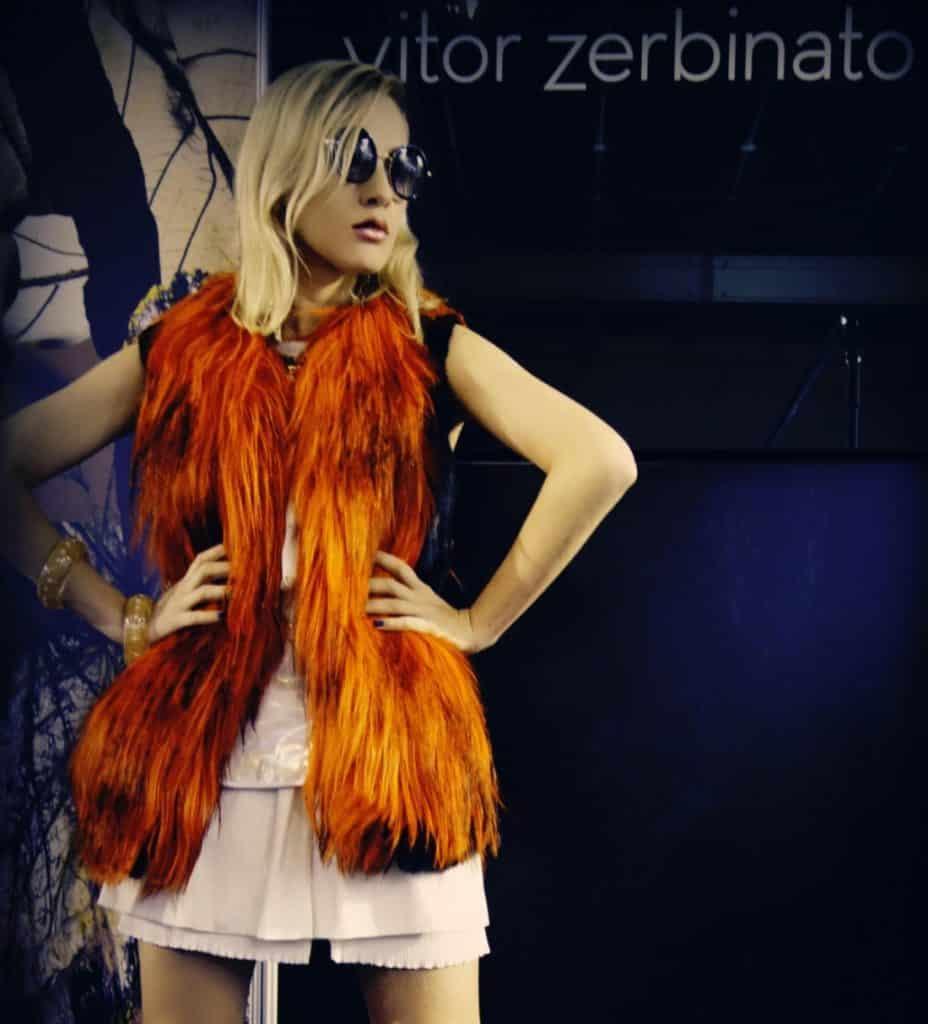 lngrid Lima no Minas Trend veste Vitor Zerbinato