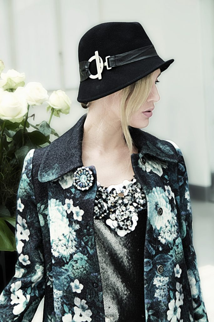 look 2 The flower coat over sequin dress (2)