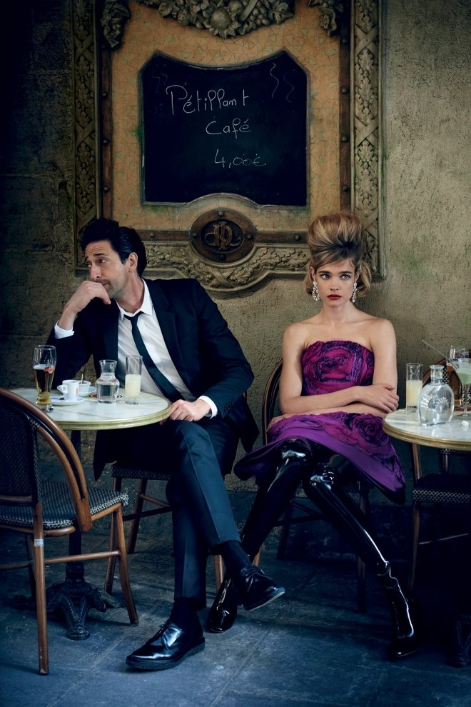 Natalia Vodianova & Adrien Brody by Peter Lindbergh for Vogue US IDsetters (1)