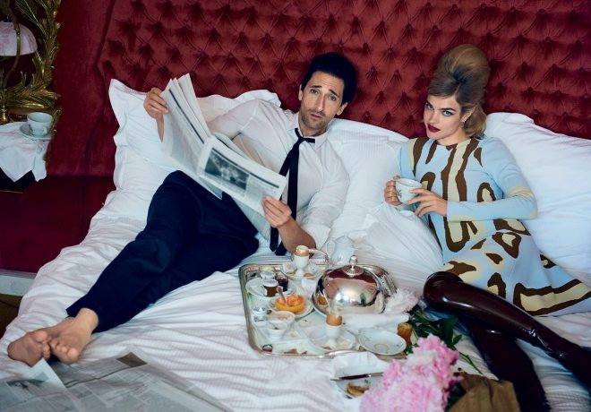 Natalia Vodianova & Adrien Brody by Peter Lindbergh for Vogue US IDsetters (5)
