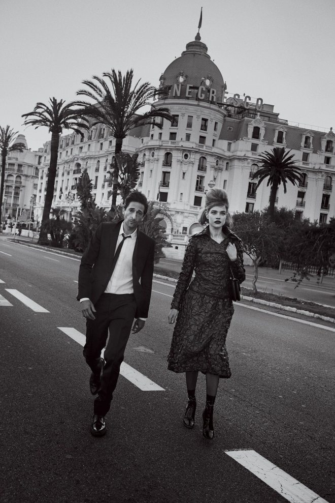 Natalia Vodianova & Adrien Brody by Peter Lindbergh for Vogue US IDsetters (6)