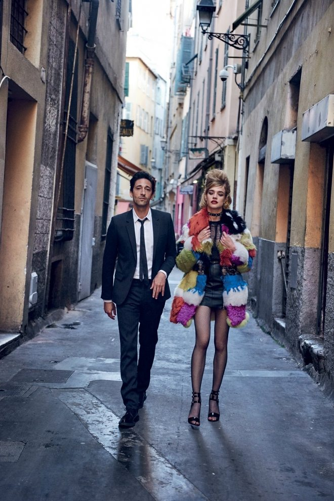 Natalia Vodianova & Adrien Brody by Peter Lindbergh for Vogue US IDsetters (8)