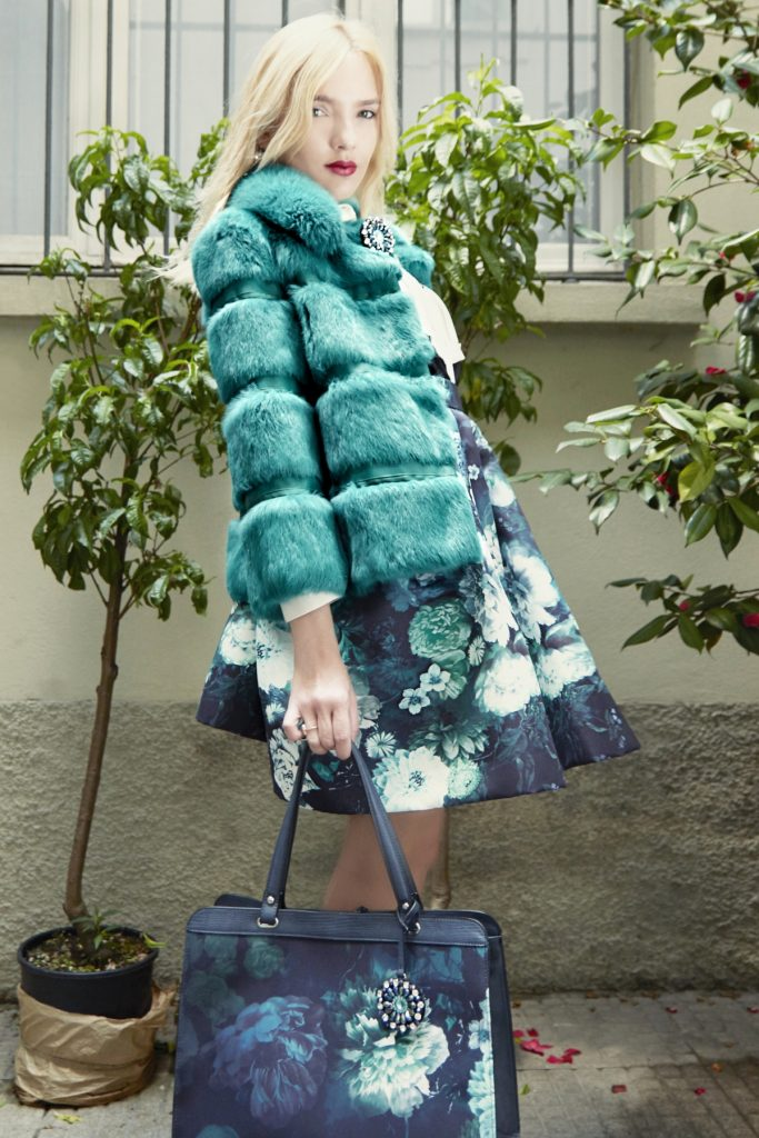 look 4 full flower skirt smoking shirt plus fur (4)